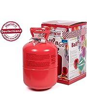Party Factory Heliumgasflasche Heliumgas für ca. 50 Ballons Helium Flasche Gasflasche Balloon Gas Ballongas Einweg + Metallic Tattoos