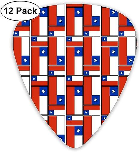Chile Flag Puzzle 12 Pack Púas de guitarra, guitarras eléctricas y acústicas: Amazon.es: Instrumentos musicales