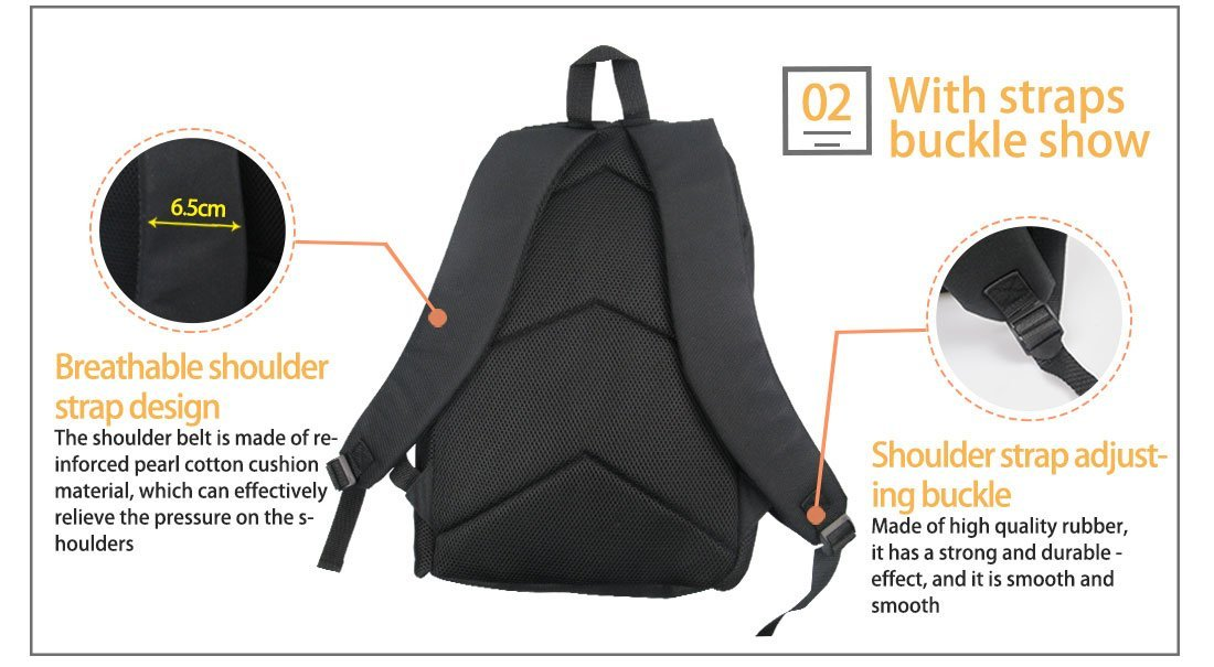 Bigcardesigns Deep Sea Animal Shark Backpack Blue School Bag for Boys Girls Fashion Knapsack by Bigcardesigns (Image #4)