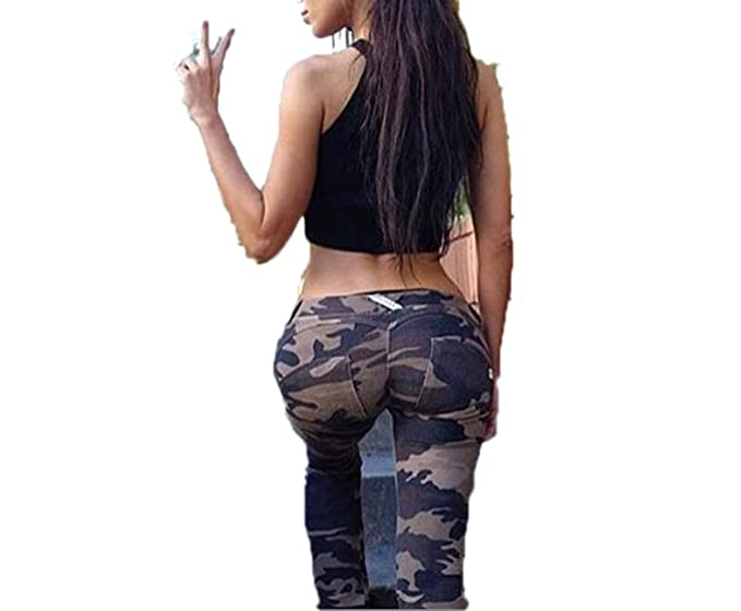 43a2830f5af3e Skinny Slim Push Up Long Denim Pencil Pants High Waist 4Colors Jeans Woman  Army Green S