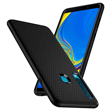new styles 75837 51b10 Spigen [Liquid Air] Case Compatible for Samsung Galaxy A9 2018, Slim  Protection [Anti Slip Pattern] Flexible Black TPU Ergonomic Phone Cover for  ...