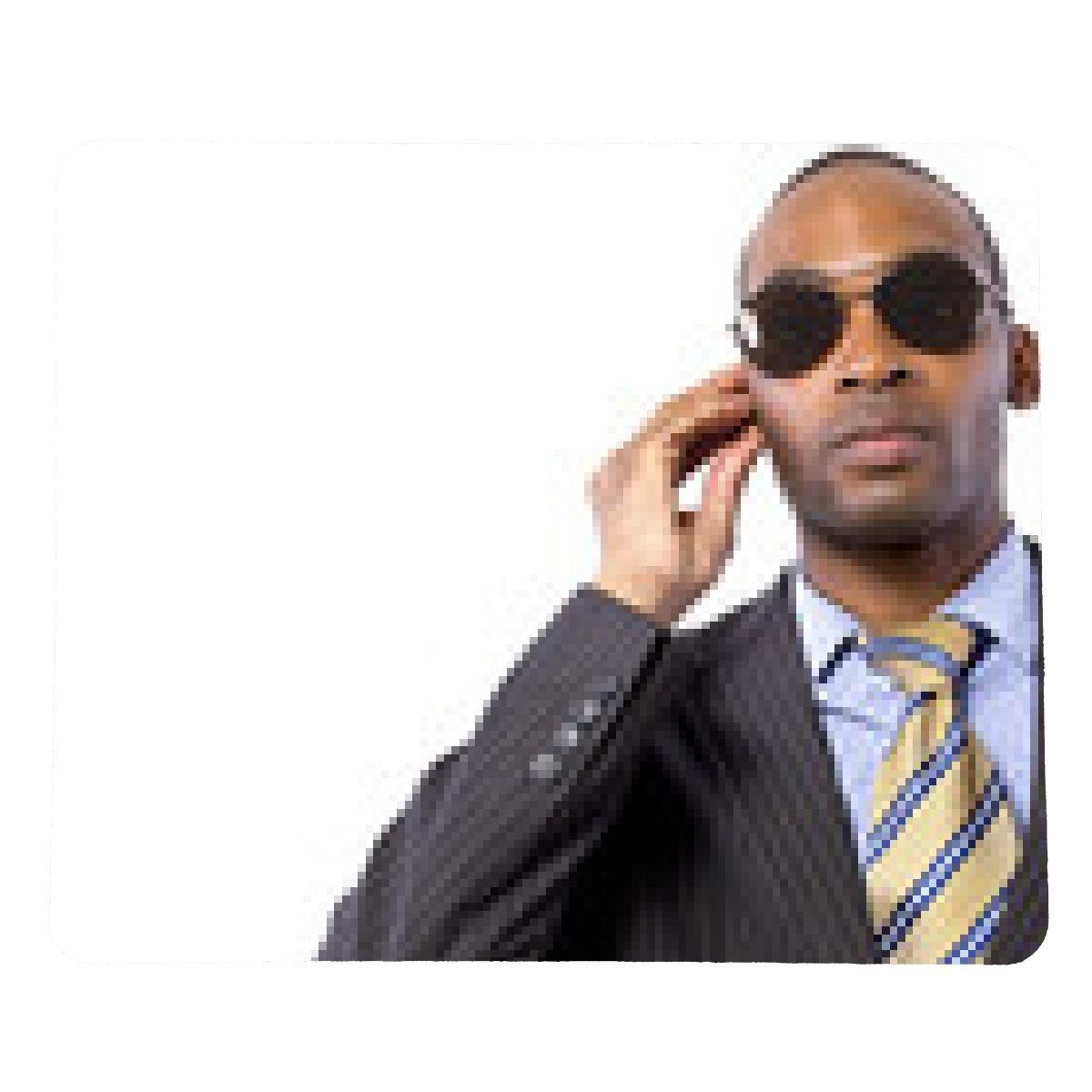 alfombrilla de ratón espía afroamericanos o guardaespaldas en un ...