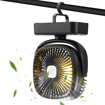 Ventilateur Portable avec Veilleuse Rechargeable /à piles USB Petit Ventilateur de Table de Bureau pour Maison Dortoir Bureau Portable En Plein Air Voyage Calme Personnel Poche de Chevet de Poche-Fans-Bleu