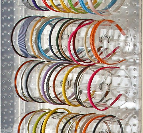 Count of 4, 11.75'' Wide Acrylic Headband Holder Display for Counter by Headband Holder