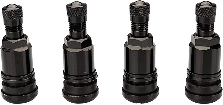 Haskyy 4 X Schwarz Metallventile I Stahlventile I Universal Felgenventile I 11 3 Mm Neu Auto