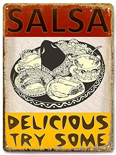 SALSA TACOS MEXICAN food METAL sign/VINTAGE style RESTAURANT wall decor 586