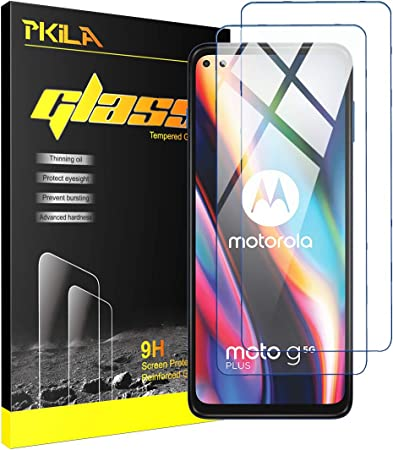 Image ofProtector de Pantalla Motorola Moto G 5G Plus Cristal Templado [9H Dureza][Alta Definición][Fácil de Instalar] para Motorola Moto G 5G Plus