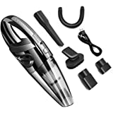 ADTZYLD Handheld Car Vacuum Cordless Cleaner USB Charger Wet Dry Strong Cyclone Suction Lightweight Portable Auto Mini…