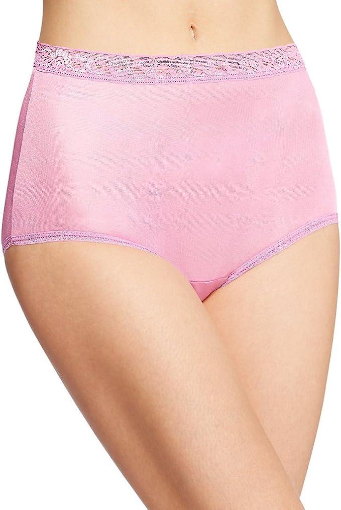 Hanes Nylon Brief Panties 6-Pack Women/'s Lace Underwear Assorted Colors /& Prints