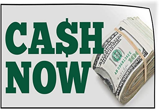 Set of 5 Decal Sticker Multiple Sizes Cash Now White Green Red Business Cash Now Outdoor Store Sign White 27inx18in