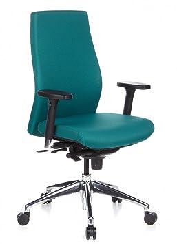 Hjh Office 710012 Chaise De Bureau Haut De Gamme Skave 200 Petrole