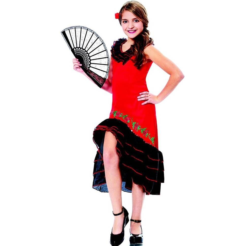 Costume Culture Women's Senorita Girl's Costume, Red, Large by Costume Culture