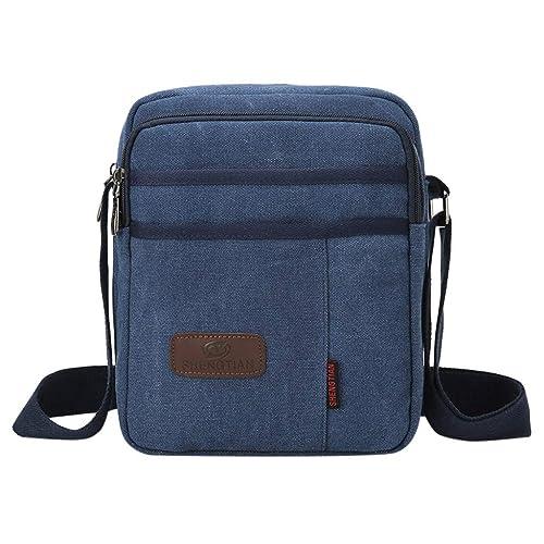 600fe193cd0b Amazon.com: Rakkiss Women Canvas Messenger Bag Solid Crossbody Bag ...