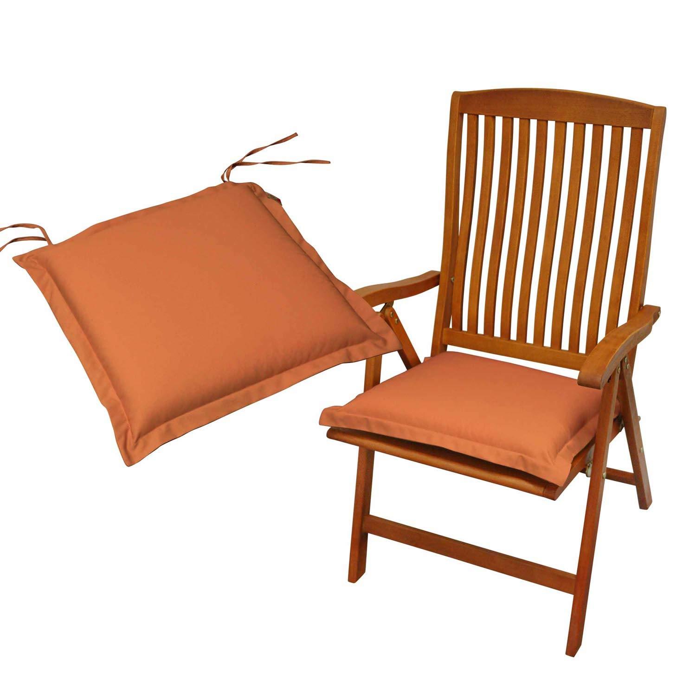 Indoba 2 x Sitzkissen Premium Polsterauflagen Terra