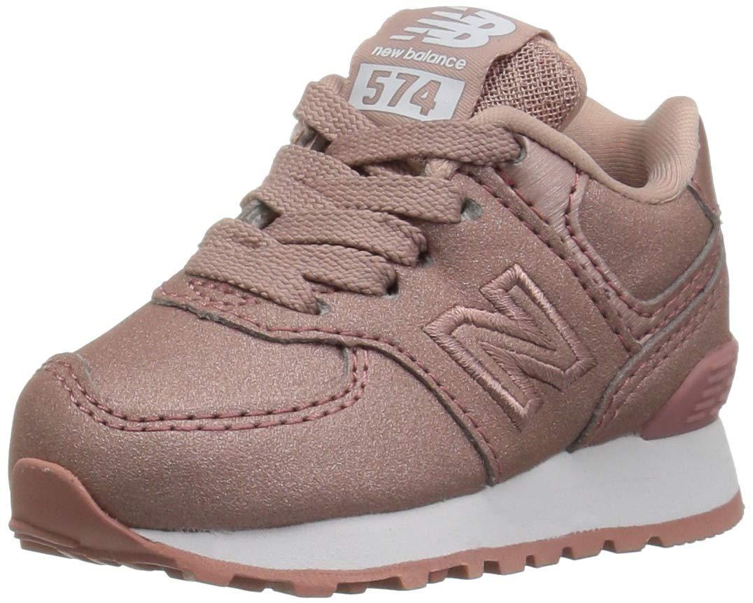 New Balance 574v1 Sneaker, Gold, 8 M US Toddler