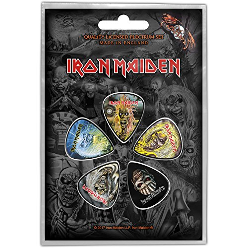 (Iron Maiden Faces of Eddie Plectrums Official Guitar Picks)