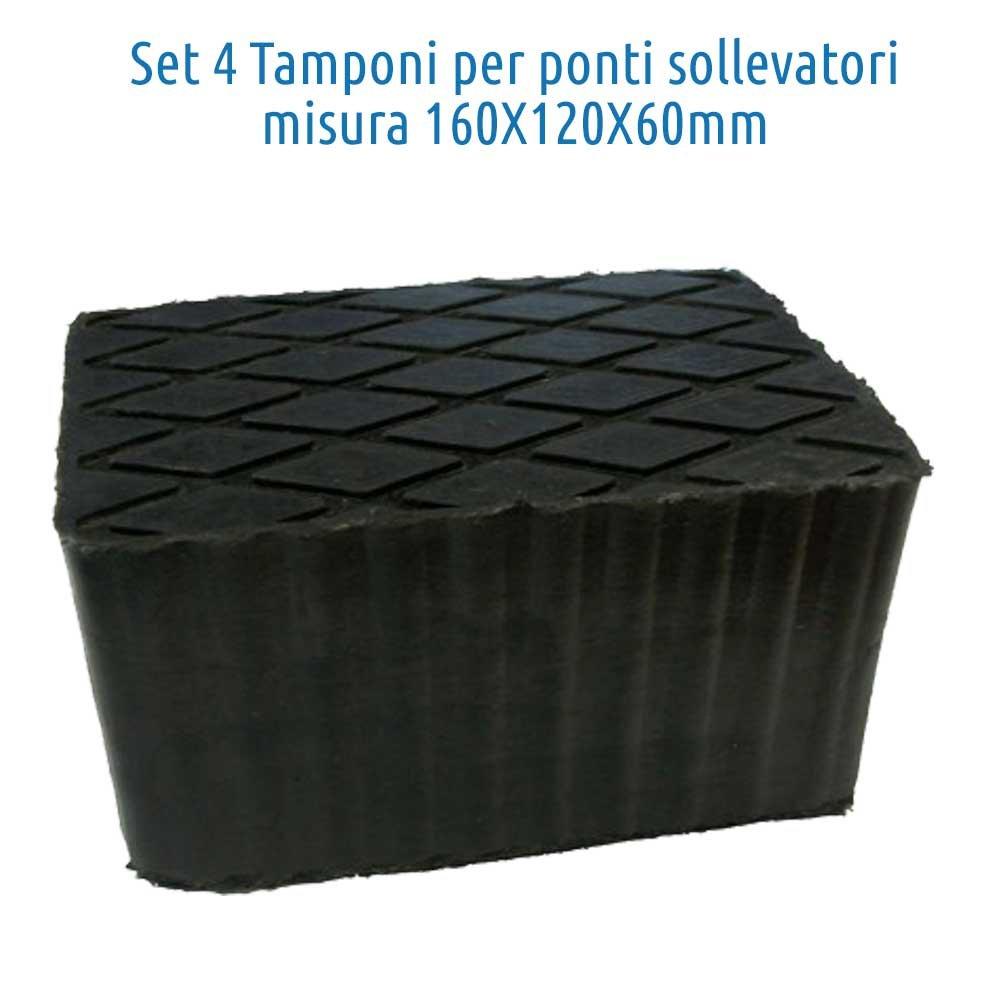 Set 4pcs bloc de caoutchouc 160x120x80mm. pour pont elevateur Corghi Ravaglioli Omcn … TAMPONS AR.Trade