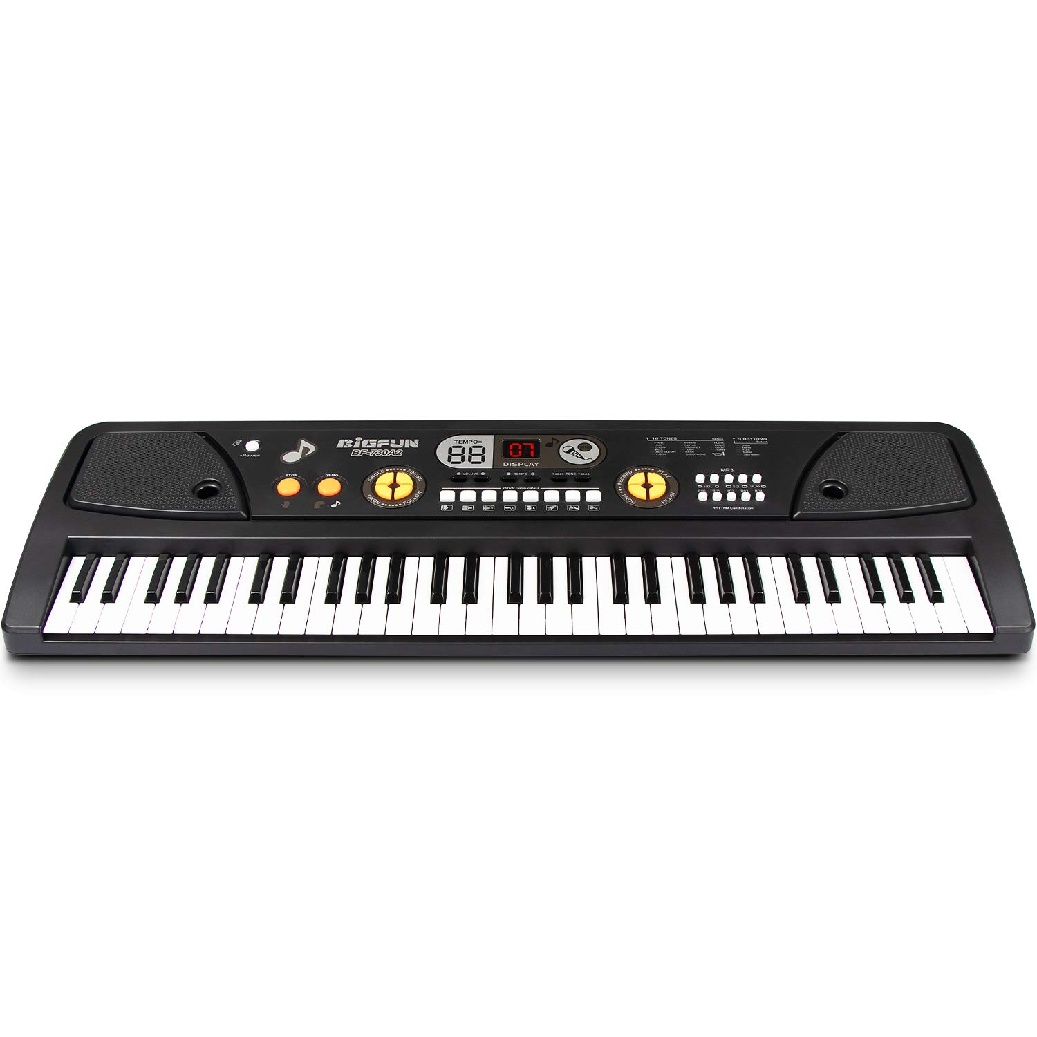 SAOCOOL Music Piano Keyboards, 61 Keys Multifunction Piano Keyboard Electronic Piano Keyboard Music Piano Toys with Microphone (Black) by SAOCOOL