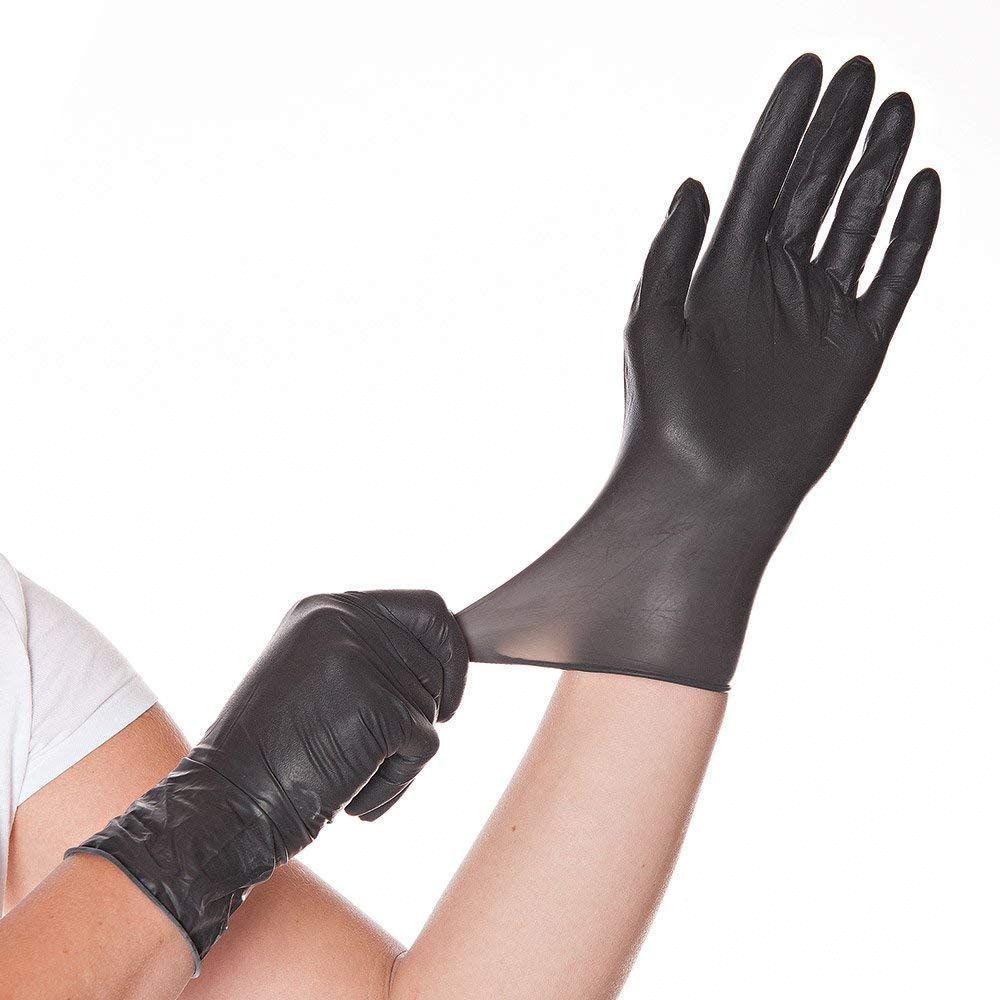 Small Franz Mensch 26768/Diablo Hygo Star Latex Glove Black