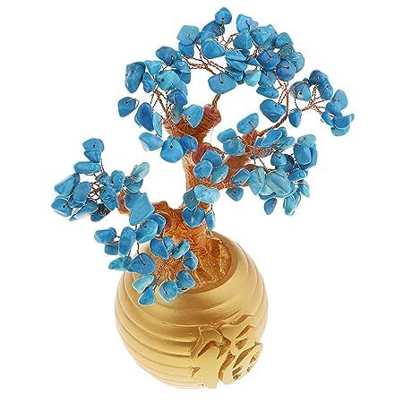 Baoblaze Riqueza Suerte Dinero árbol Feng Shui Cristal Plástico ...