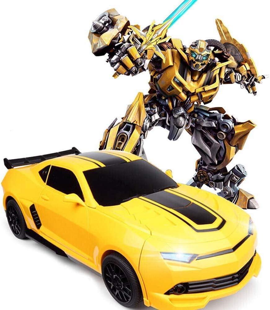 SEESU.U - Mando a Distancia para Coche con Dos Modos de Robot, rotación de 360°, función de Escalada en la Pared, vehículo eléctrico, Regalo de cumpleaños o Año Nuevo para niño