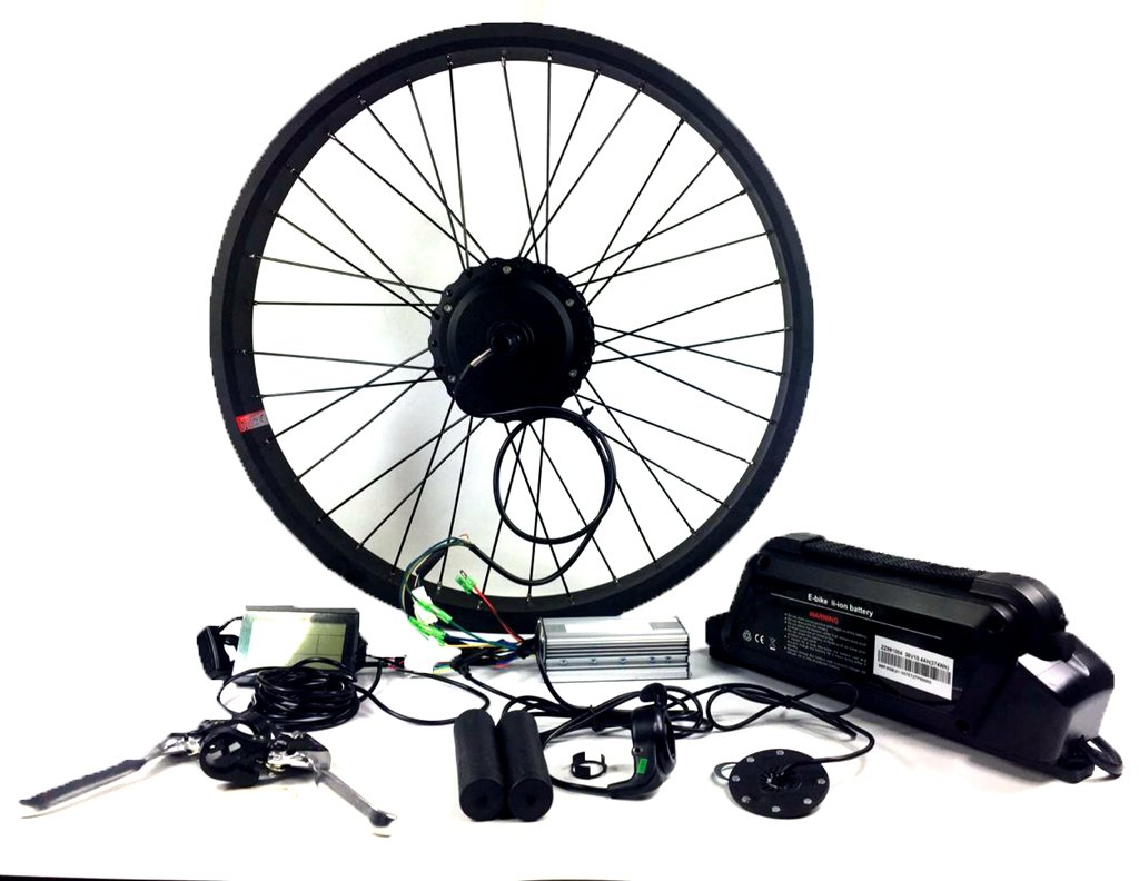 2018 48V 750W fat tire Electric bike conversion kit with battery and LCD display , Electric Bicycle Kits with Rear Wheel 48V 750W Hub Motor