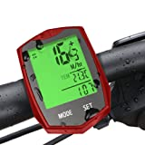 Wireless Bike Computer, Furado CycleComputer for Tracking Riding Speed and Distance, Waterproof, Automatic Wake-up, Bicycle Computer with Large LCD Backlight and Motion Sensor, Bike Computer Odometer Speedometers