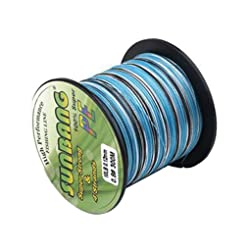 PE Braided Fishing Line Abrasion Resistant Camouflage Braided Kite Lines Smaller Diameter Cord String