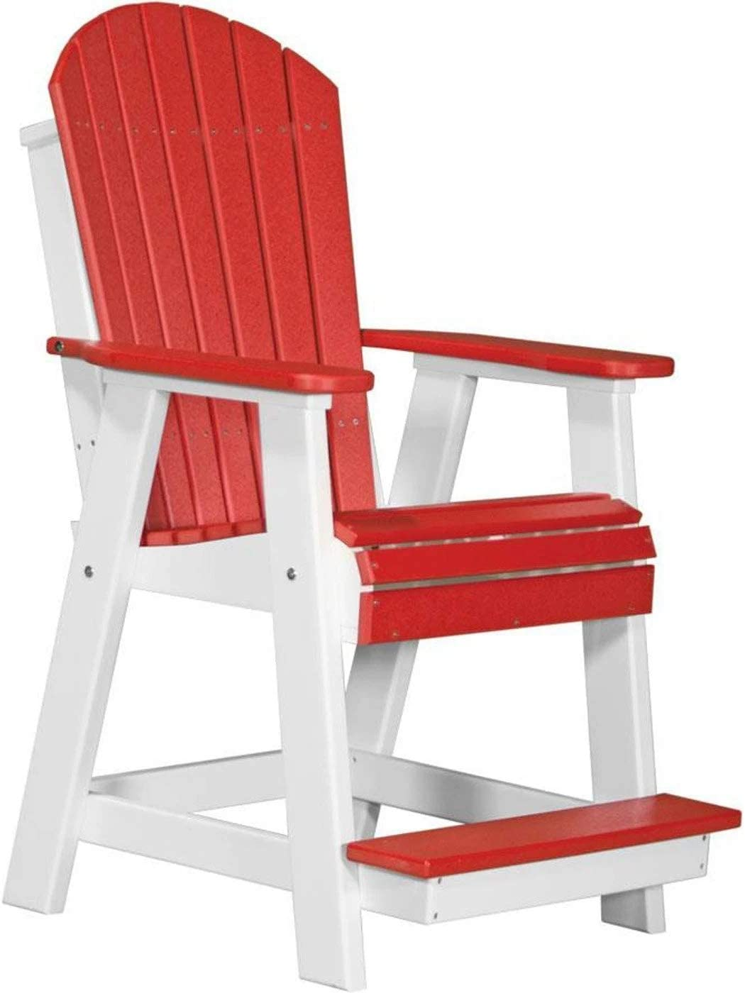 LuxCraft Recycled Plastic Adirondack Balcony Chair