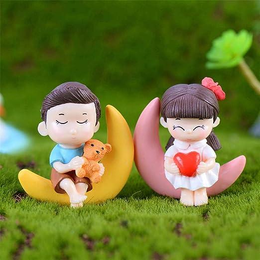 bismarckbeer - Accesorios de jardín de Hadas, 2 Figuras de Resina en Miniatura para niños y niñas: Amazon.es: Hogar