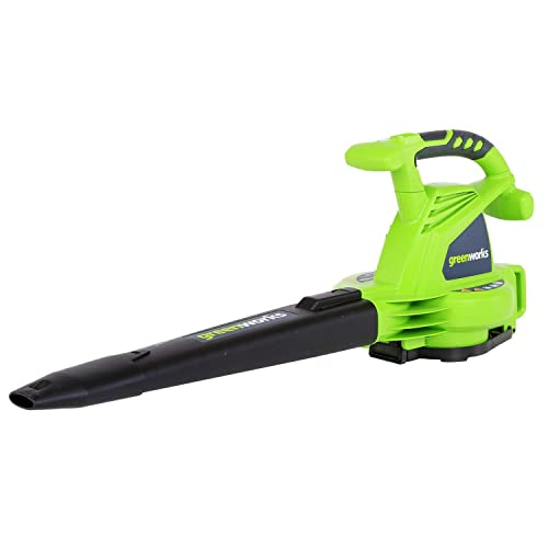 Greenworks 24072 12A 235MPH Variable Speed Corded Blower Vac includes Metal Repeller Renewed