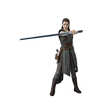 S. H. Figuarts Star Wars Rey About 155mm ABS PVC Painted Action Figure: Toys & Games