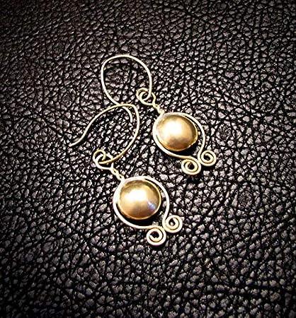 Amazon com : TALI Ancient Inspired, Brass Earrings, Brass Jewelry