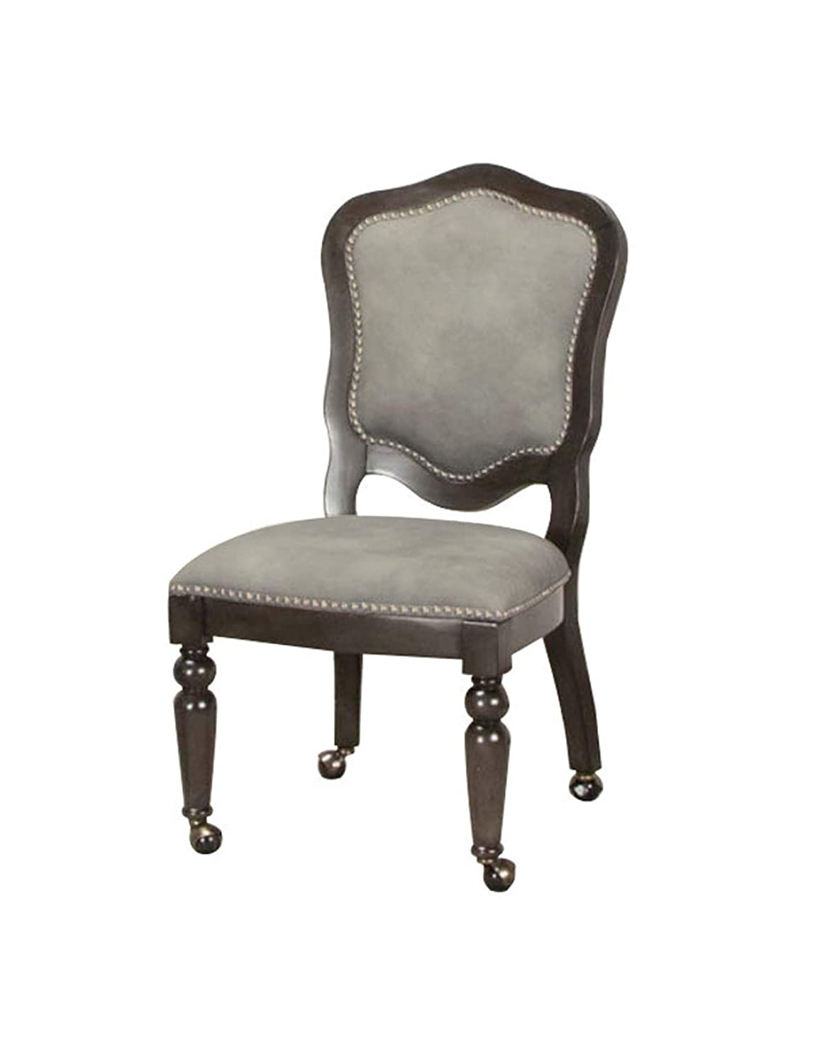Sunset Trading Vegas Game and Dining Chair, Gray/Black/Off-white