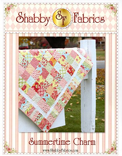 Summertime Charm Quilt Pattern, Charm Pack and Jelly Roll Friendly, Finished Size 57