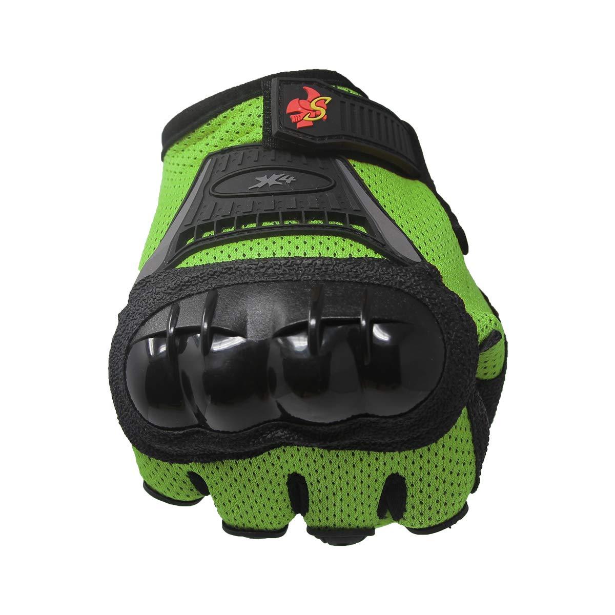 S, black Street Bike Full Finger Motorcycle Gloves 09