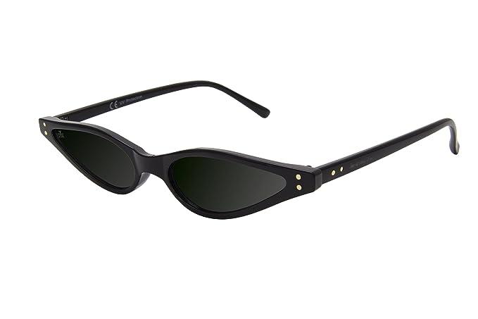 d2103cd77c The Wrong Way Gafas de Sol Ojos de Gato Lentes negras Cat.3 UV400 de ...