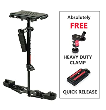 Flycam HD-3000 Video Camera Handheld Stabilizer with Micro Adjustments and Quick Release Table Clamp (Black) <span at amazon