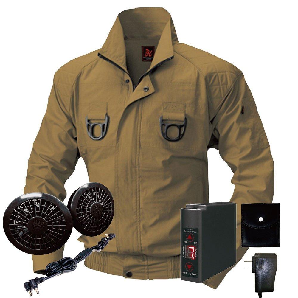 空調服快適ウェア ブルゾンバッテリーセット V722201set B071GB1LZS 8L|74キャメル 74キャメル 8L