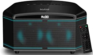 "Boytone BT-64B, Wireless Bluetooth Premium HiFi Stereo, Home Theater Speaker 100w, Powerful Super Bass, Clear Sound, 6.5"" Subwoofer, 3"" X4 Midrange/Tweeter, FM Radio, Disco Light, USB/SD/MP3"