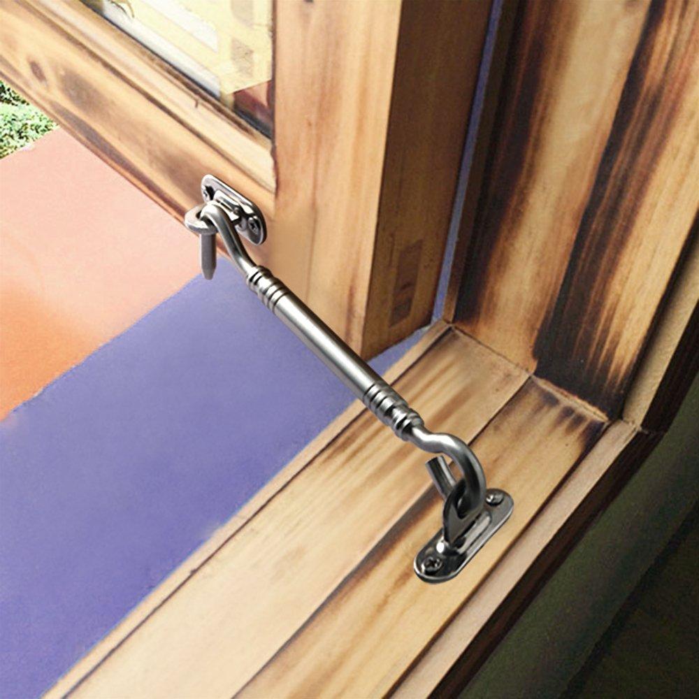 Sayayo Bold Door Door Hook Eye Door Lock Acero Inoxidable Cepillado Acabado EMC5001-6 9.55mm-Di/ámetro 6 Pulgadas de Largo