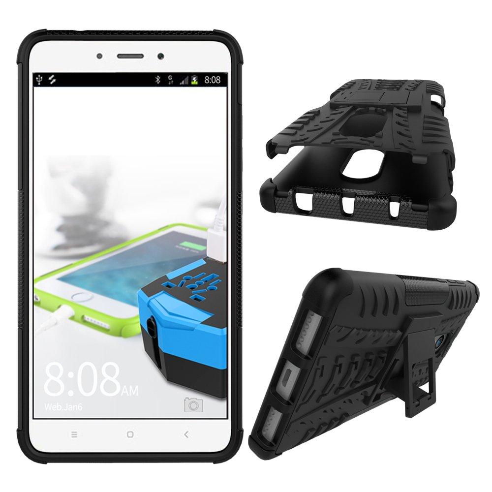 6X con pata trasera Heavy Duty H/íbrida Rugged Armor Case Choque Absorci/ón Protecci/ón Dual Layer Bumper Carcasa con pata trasera para Xiaomi Xiaomi Mi A2//6X, Naranja Funda para Xiaomi Mi A2