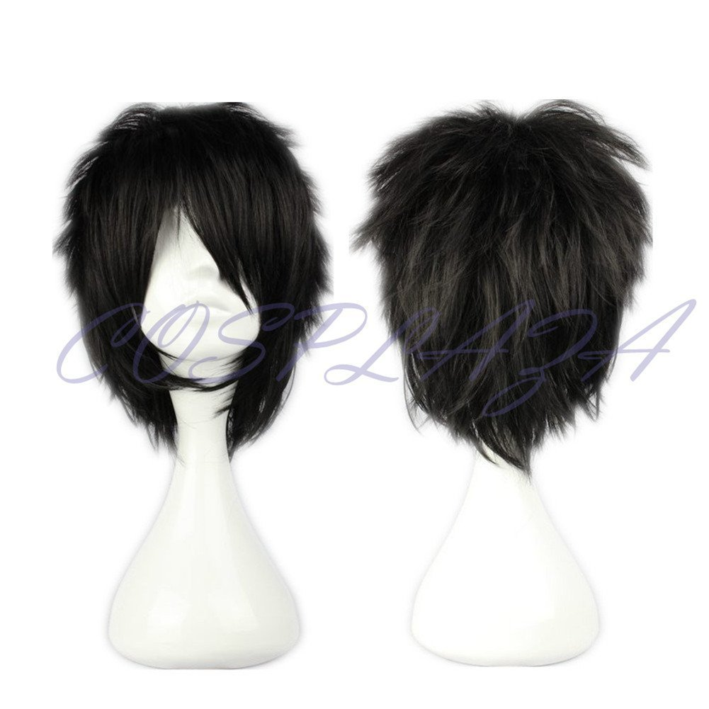 COSPLAZA Cosplay Wig Short Spiky Black Heat Resistant Synthetic Hair by COSPLAZA