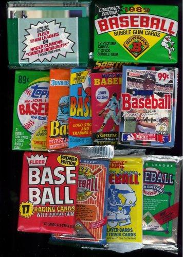 25 Original Unopened Packs Of Vintage Baseball Cards 1980s 1990s
