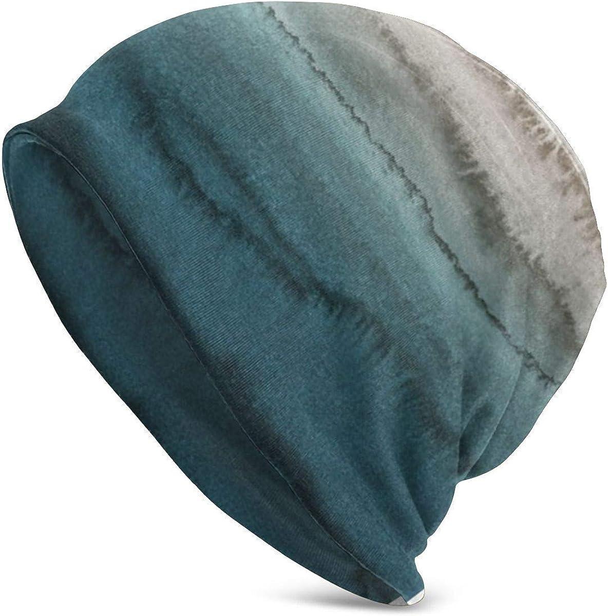 Dentro de Las Mareas Crashing Waves Prints Unisex Adult Knit Hat Beanie Hat Casual Unisex Fashion Warm Hat Negro