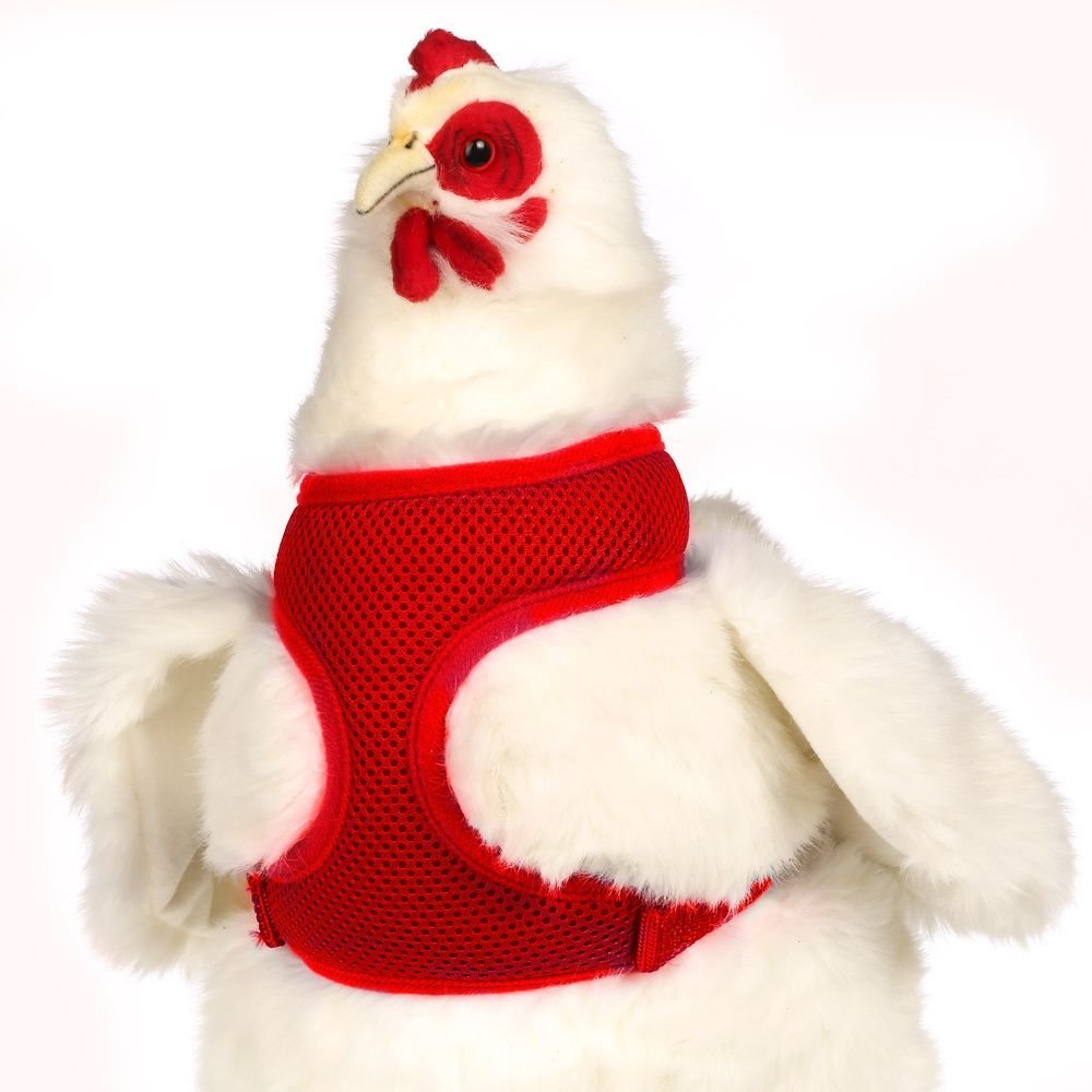 Valhoma Chicken Harness Adjustable Durable Breathable Mesh Hen Size Red 13-17 Valhoma Corp 086386107779