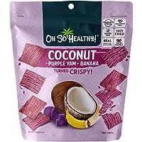 Oh So Healthy! Purple Yam Banana Coconut Fruit Crisps, 40g