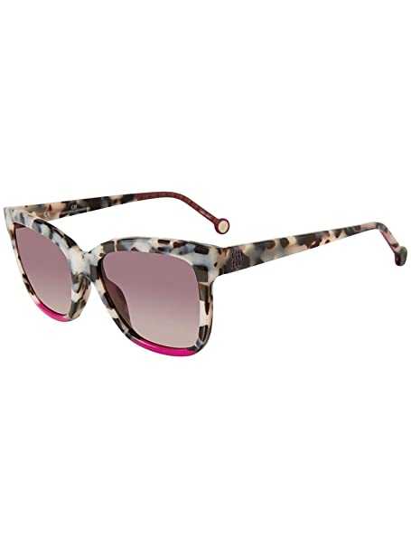Carolina Herrera SHE744 GRAY CLEAR HAVANA (09BB) - Gafas de ...