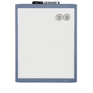quartet plastic frame magnetic whiteboard 11 x 14 inches frame color may vary