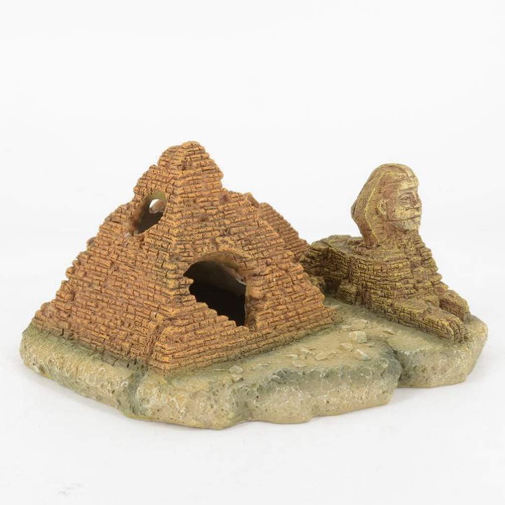 Accessori per acquari Acquario Creativo Arredamento Acquario Paesaggio POPETPOP Simulazione di Acquario di Pesci Resina Piramide sfinge Acquario Ornamenti Decorazioni